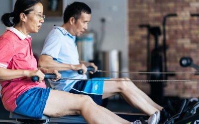 "Mr and Mrs Xie (age 55 and 50): ""We train so we can improve our mobility"""